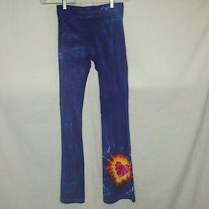 American Apparel Purple Tie Dye Heart Leggings M
